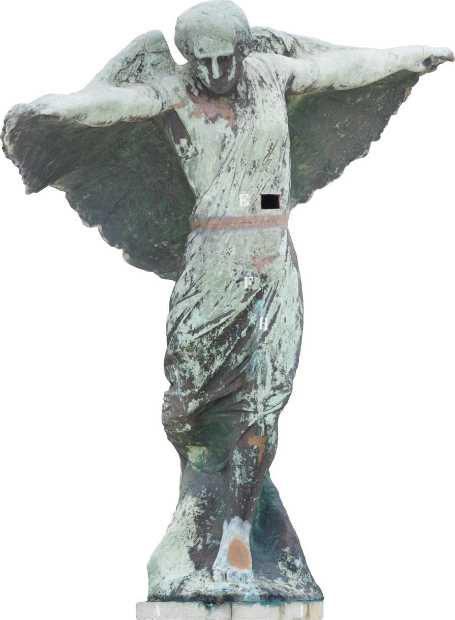 Escultura Alegoria da Vitoria Urca frontal