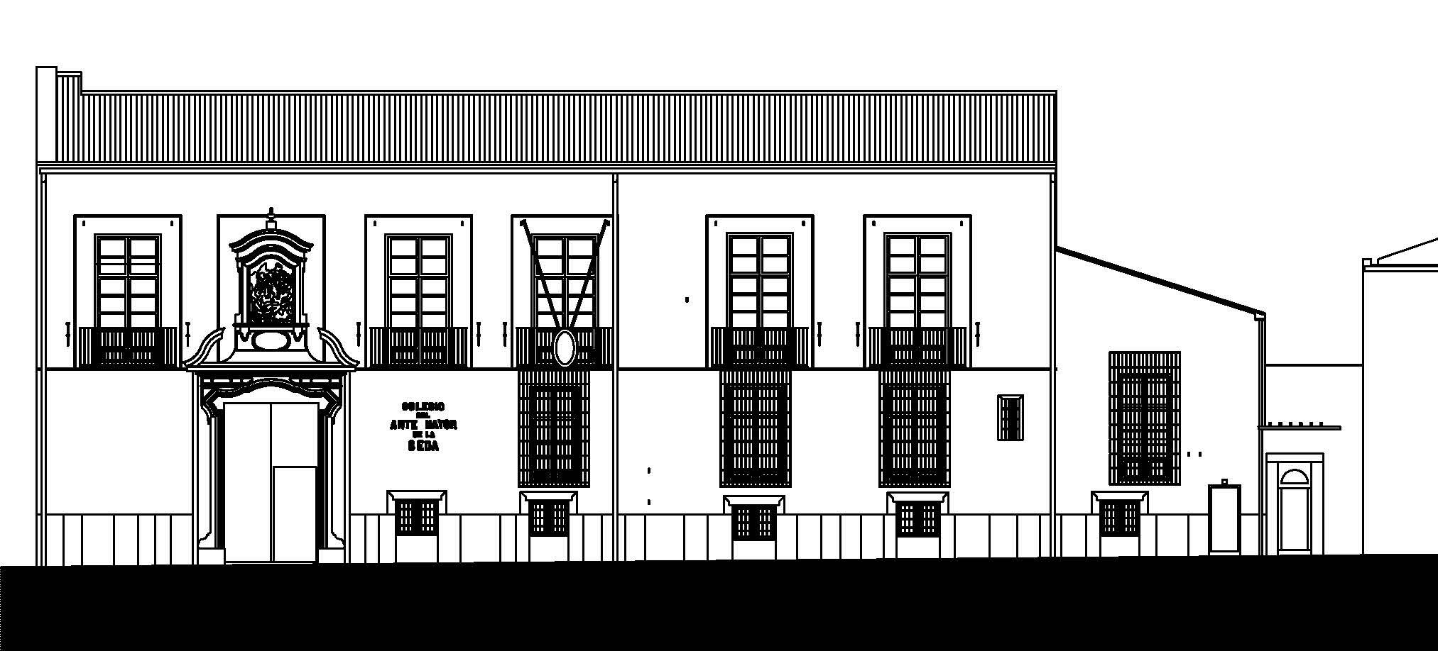 Fachada Principal Colegio del Arte Mayor de la Seda