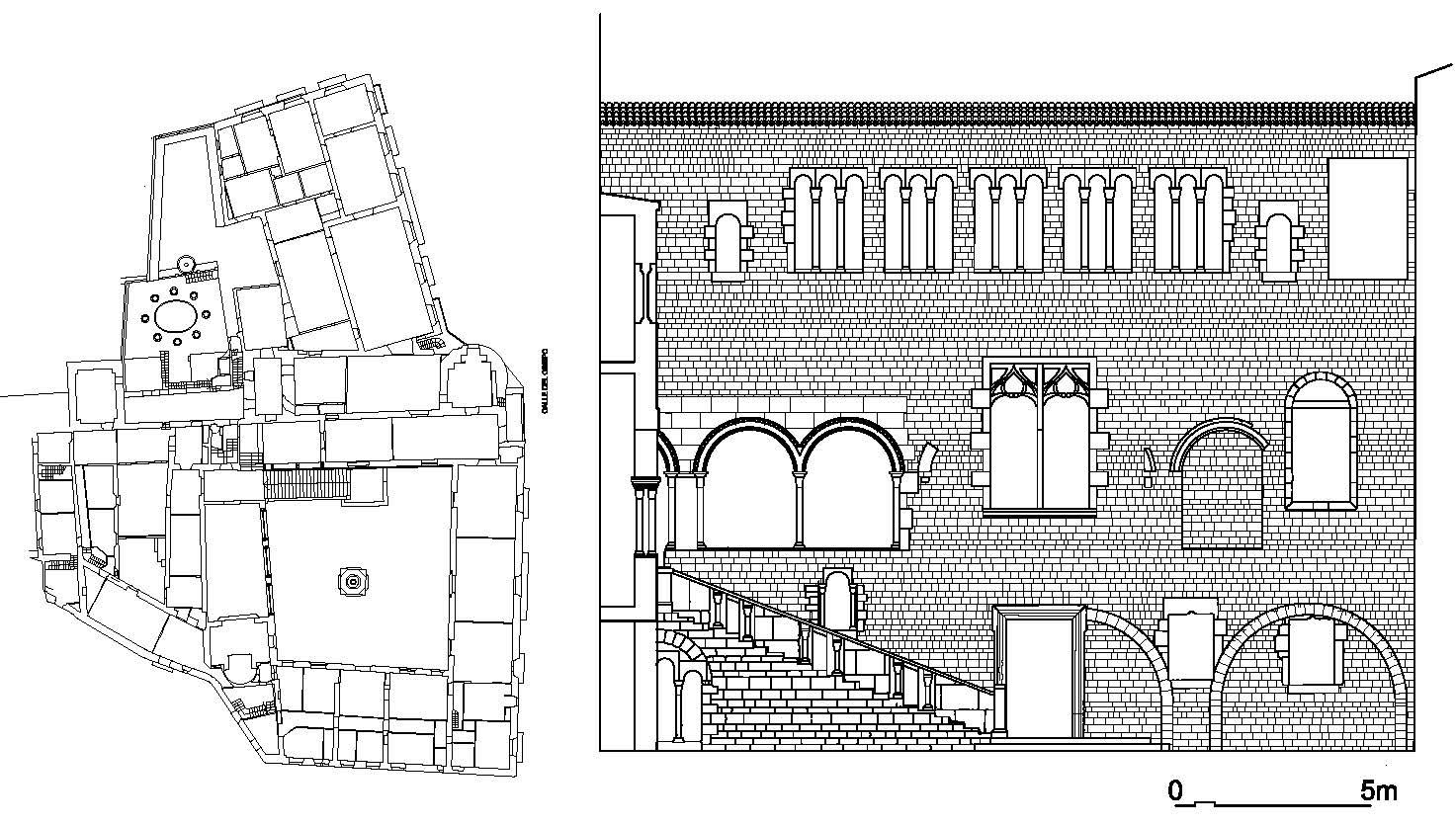 Palacio Episcopal de Barcelona alzados patio 1